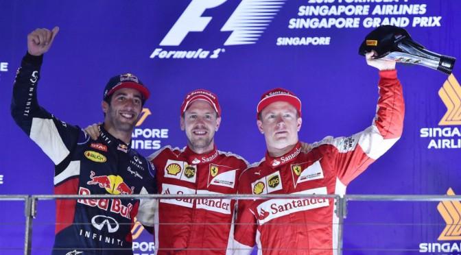 GP de SINGAPUR 2015 fué para Ferrari y Vettel
