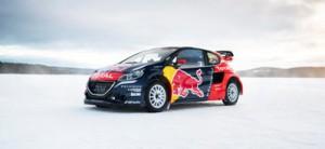 The car of Sebastien Loeb  in Åre, Sweden on March 16, 2016.