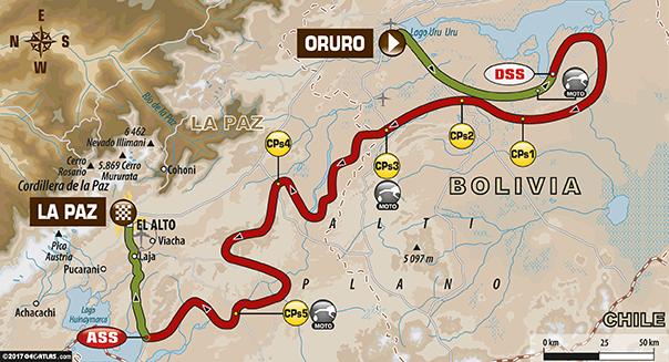 Etapa 6 | Dakar 2017 | Mapa de Ruta | Oruro – La Paz