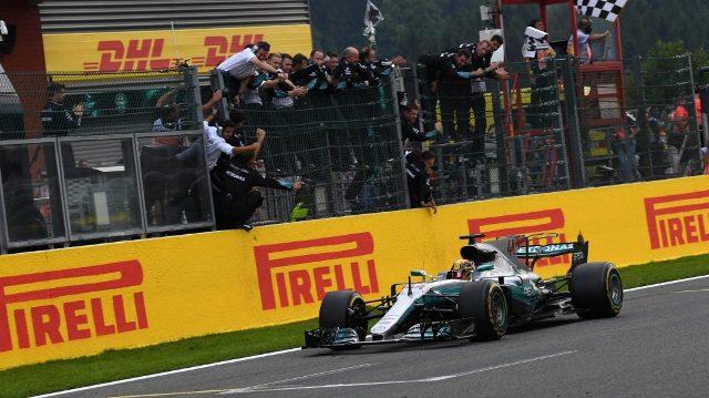 F1 | Belgica 2017 | Hamilton levantó el trofeo y Vettel cumplió